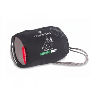Myggnätet kan packas så att det fyller nästan ingenting i din ryggsäck.