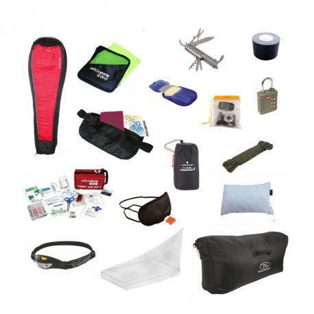 Utrustnings-paket för backpacking